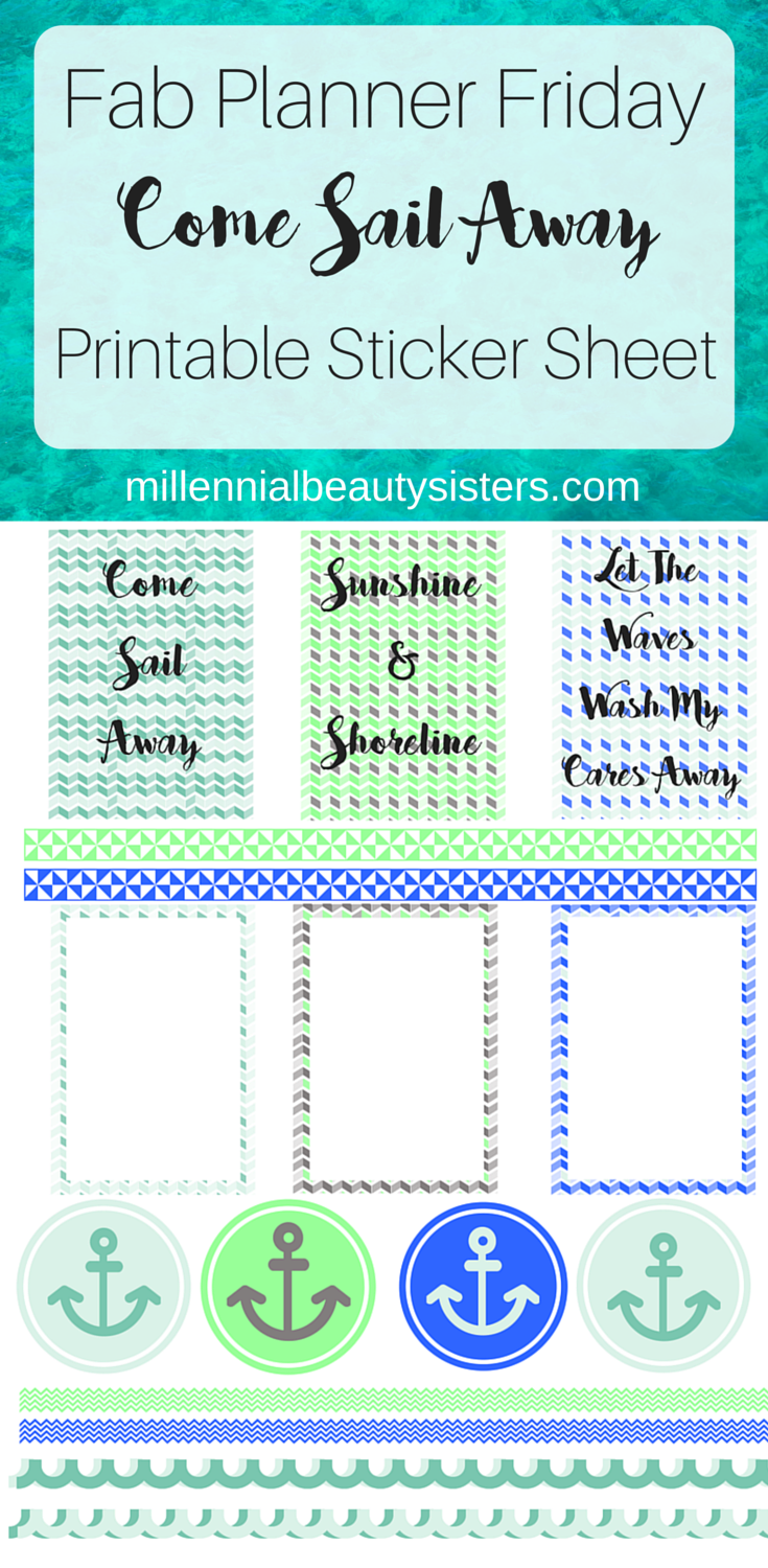 Nautical Happy Planner Stickers Fab Planner Friday from MillennialBeautySsisters.com