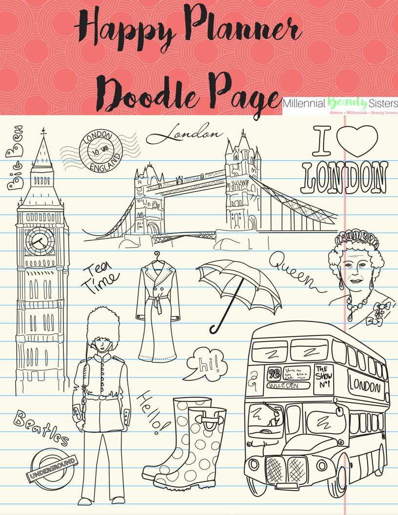 Fab Planner Friday Doodles in Paris millennialbeautysisters.com